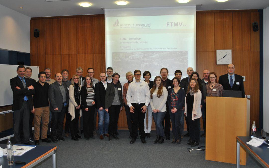 FTMV-Workshop: Erfahrungsaustausch zur Masterzulassung